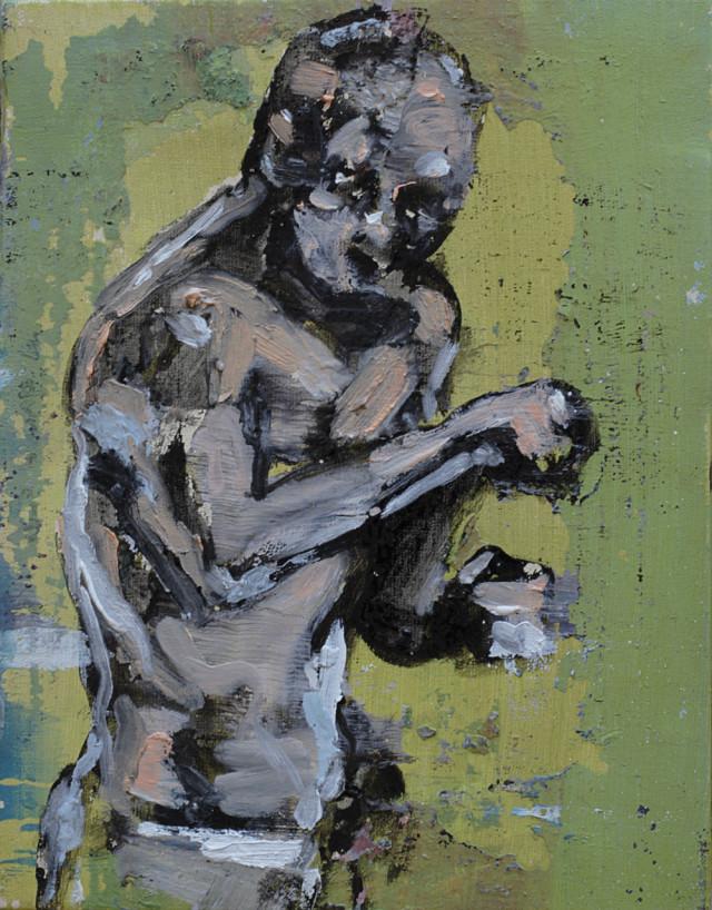 2014 Der boxer (from Rudolf Belling's sculpure) 33x25cm